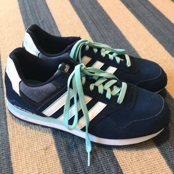 Adidas Neo Label Blue/White Sneakers, Ortholite